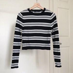 Zara Striped Crop Knit